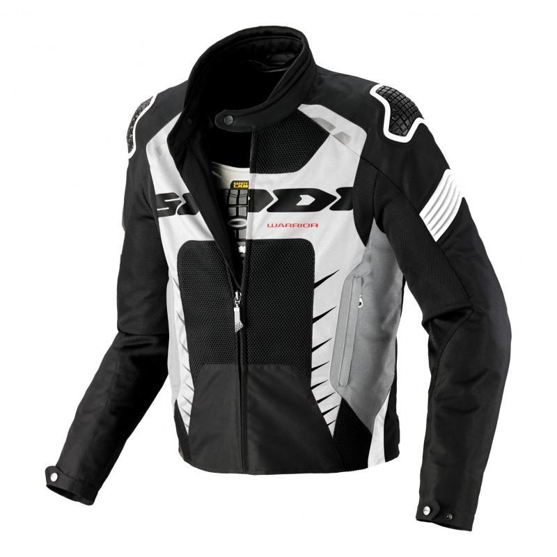Blouson textile Spidi Warrior Net 2 noir/blanc