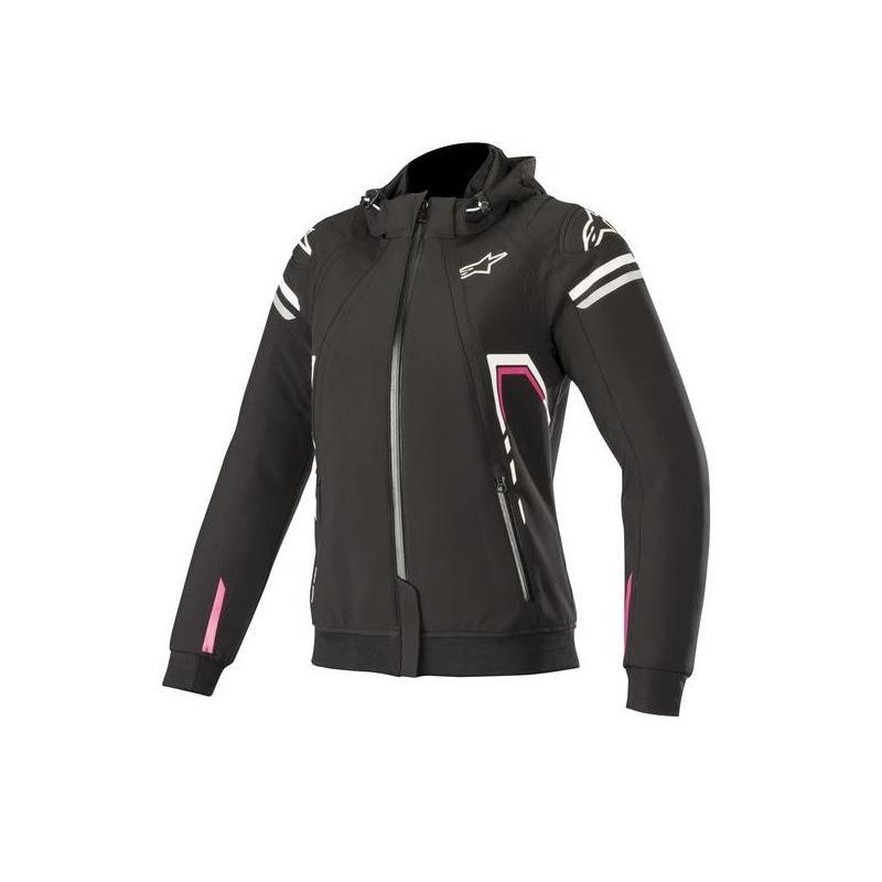 Blouson textile Stella Alpinestars Sektor noir/blanc/rose