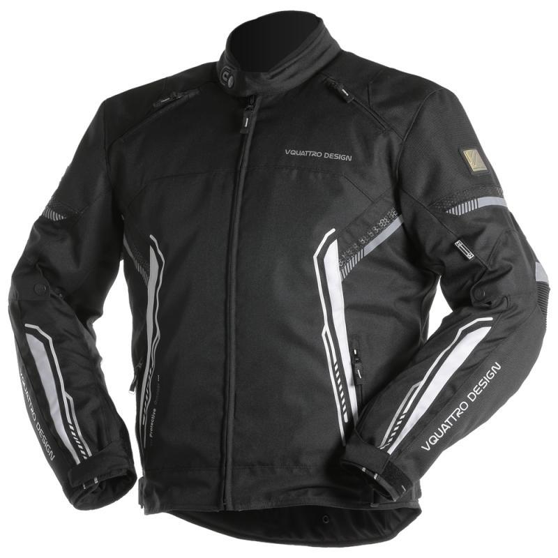 Blouson textile V'Quattro Bolt noir/blanc