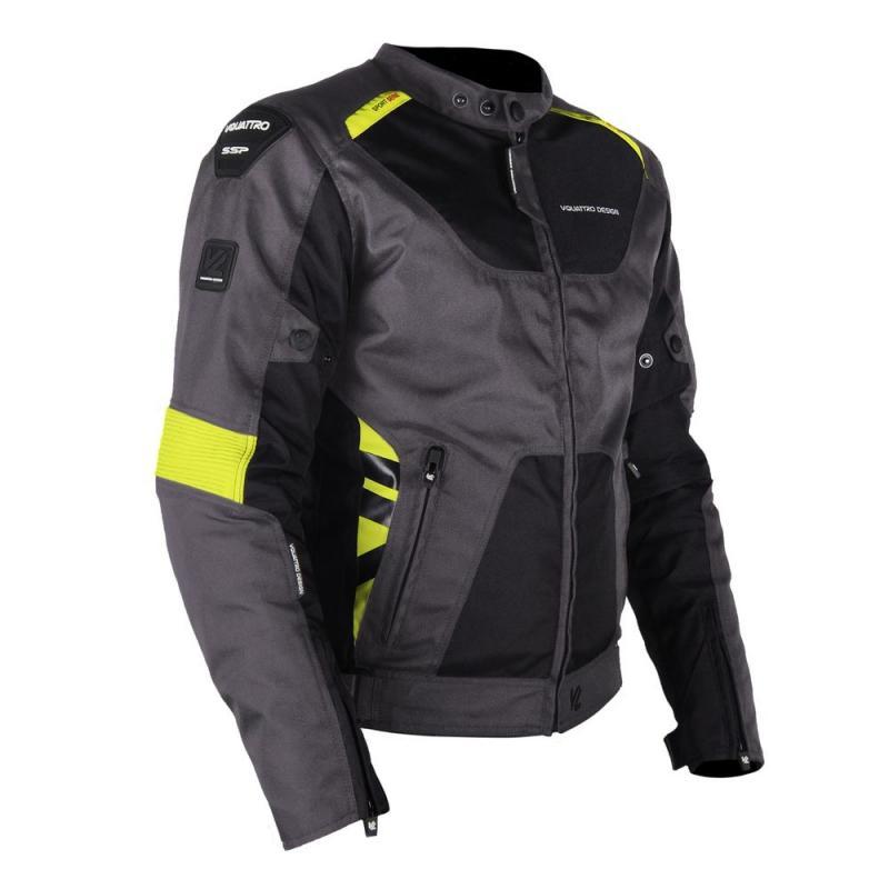 Blouson textile V'Quattro SP21 noir/gris/jaune