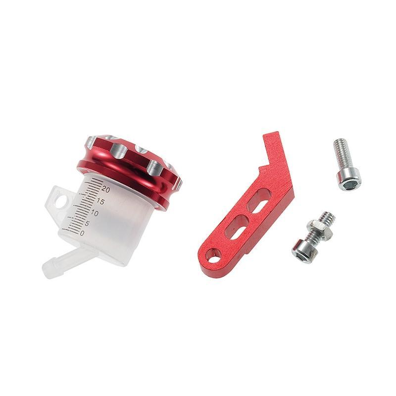 Bocal maître cylindre de frein 1Tek Tuning support alu bouchon rouge