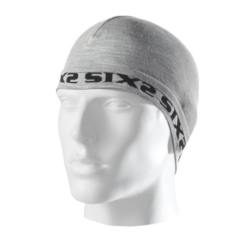 Bonnet sous-casque Sixs SCX mérinos gris