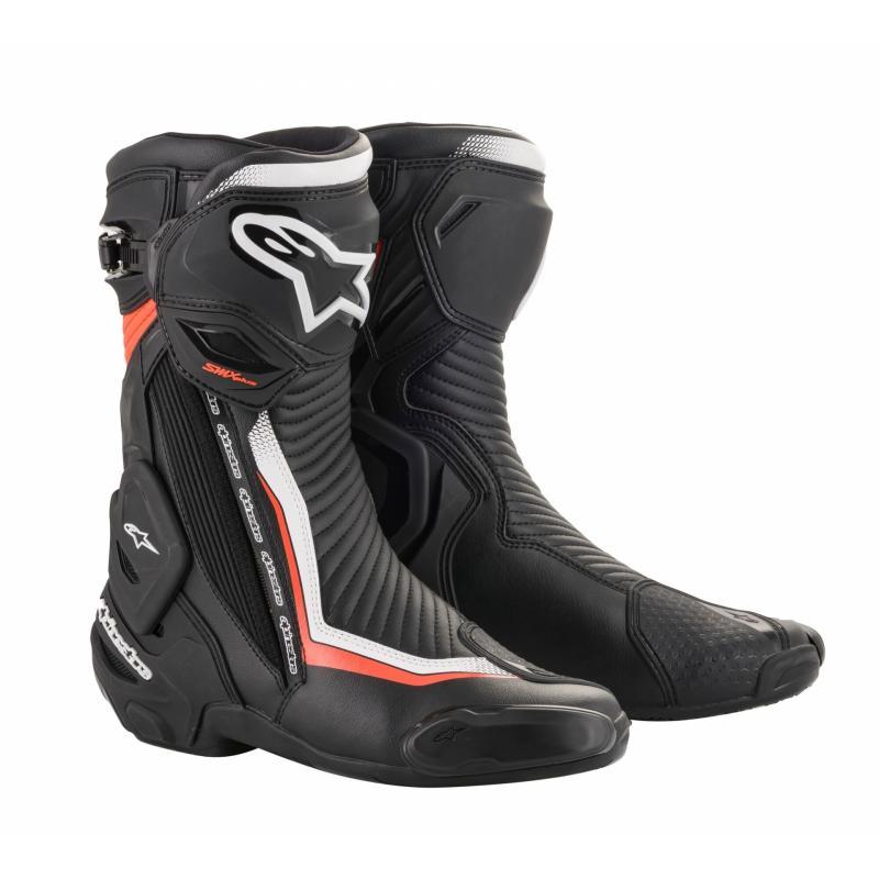 Bottes Alpinestars SMX Plus V2 noir/blanc/rouge fluo