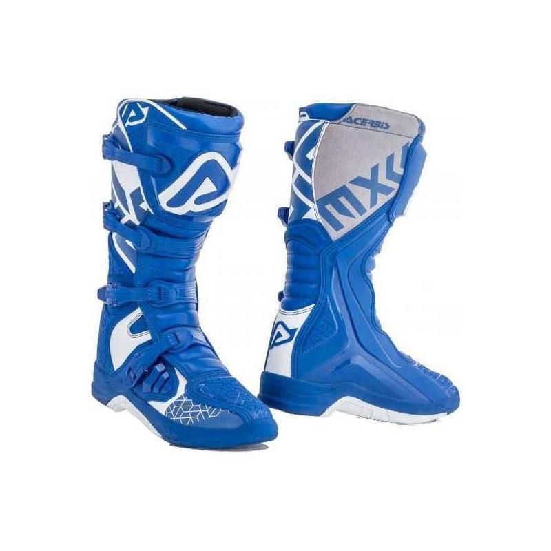 Bottes cross Acerbis X-Team bleu/blanc