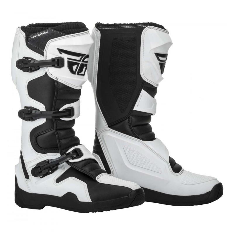 Bottes cross Fly Racing Maverick noires/blanches