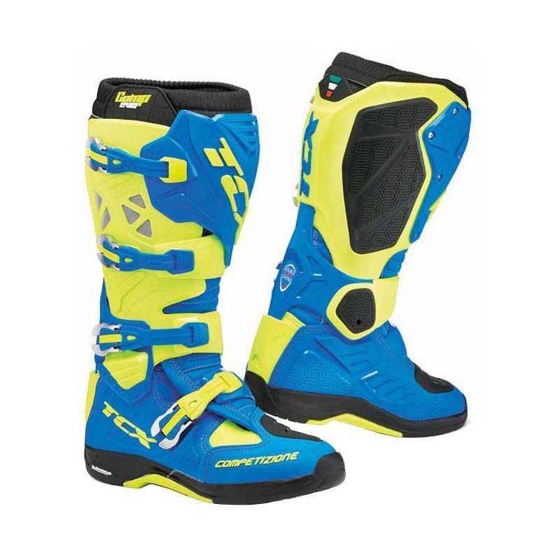 Bottes cross TCX Comp Evo 2 Michelin bleu/jaune fluo