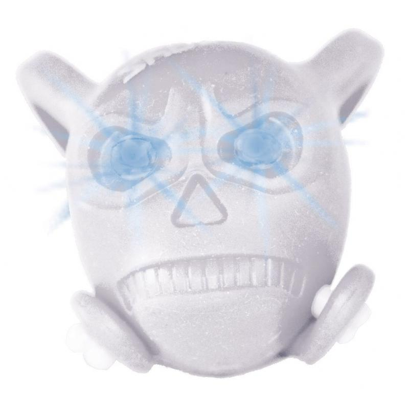 Bouchon de valve Skull blanc LED bleu