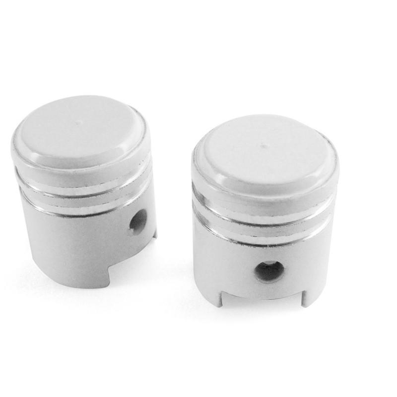 Bouchon valve piston blanc (la paire)