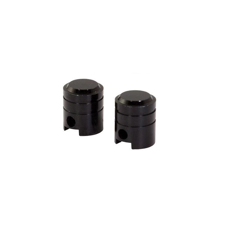 Bouchons de valve forme de piston noirs