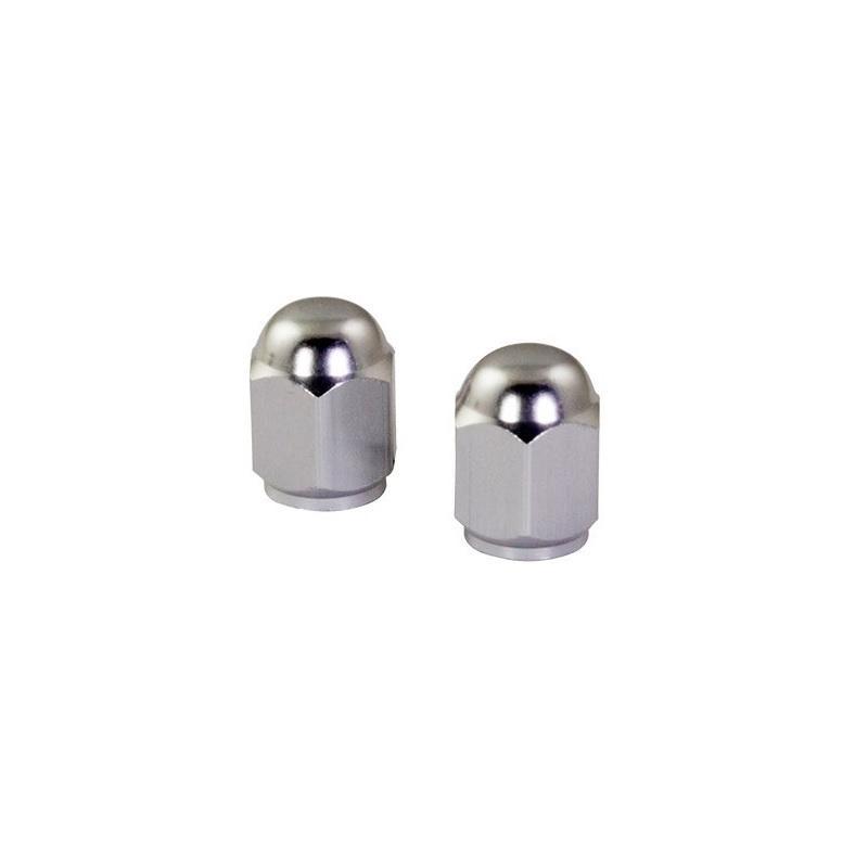 Bouchons de valve forme hexagonale chromés