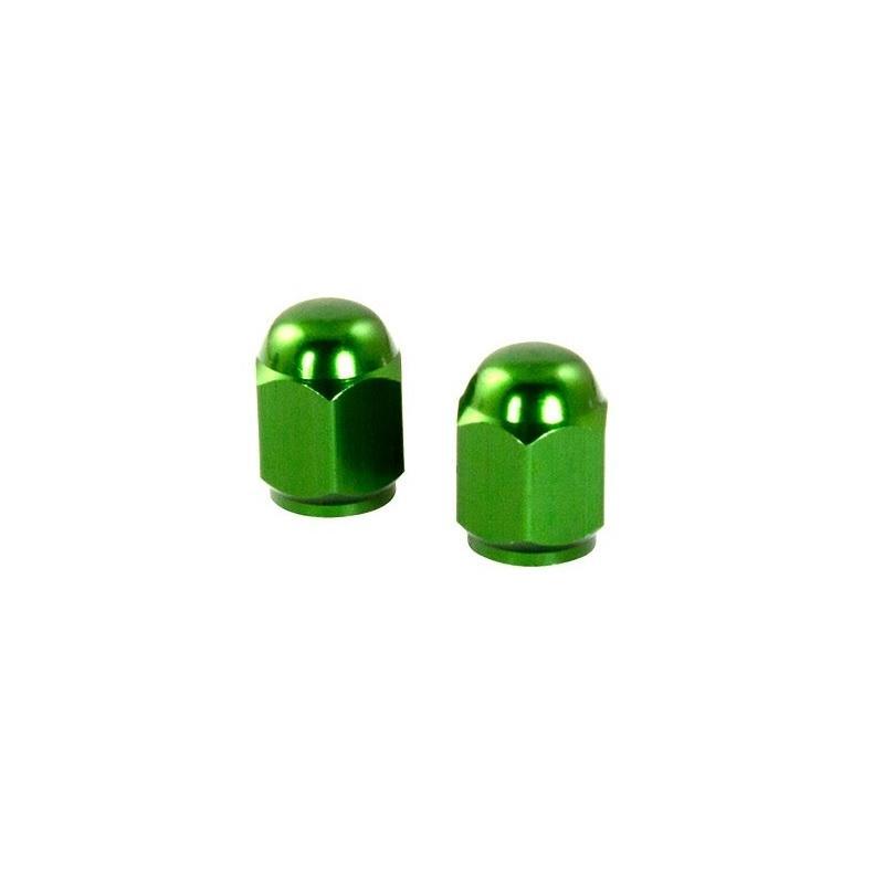 Bouchons de valve forme hexagonale verts