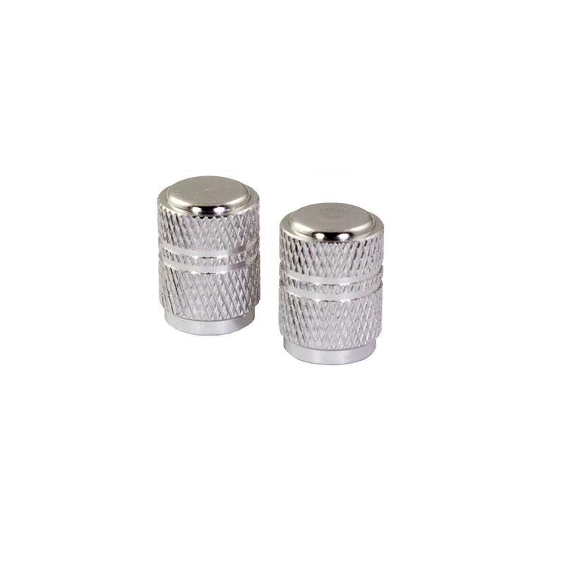 Bouchons de valve forme ronde chromés
