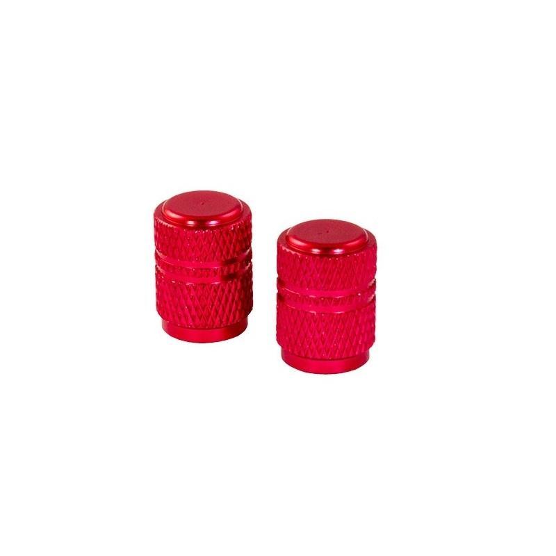 Bouchons de valve forme ronde rouges