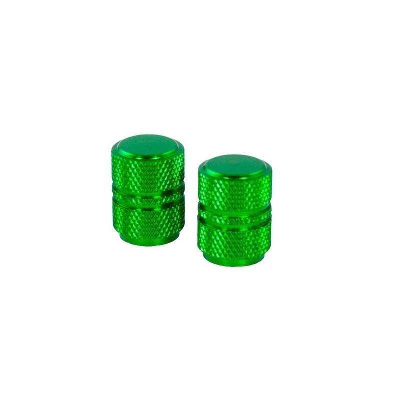 Bouchons de valve forme ronde verts