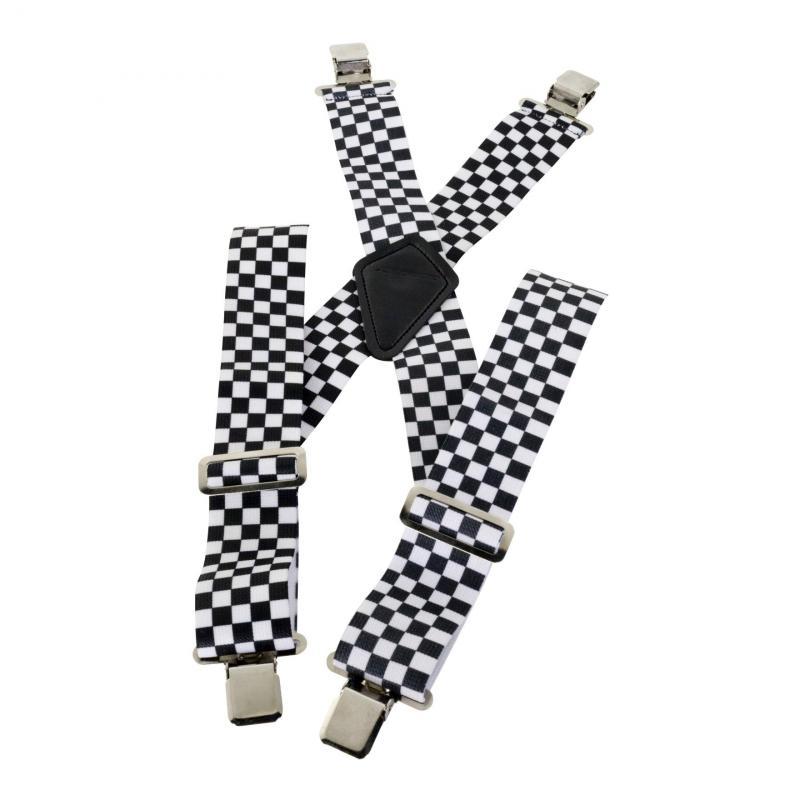 Bretelles damier noir / blanc