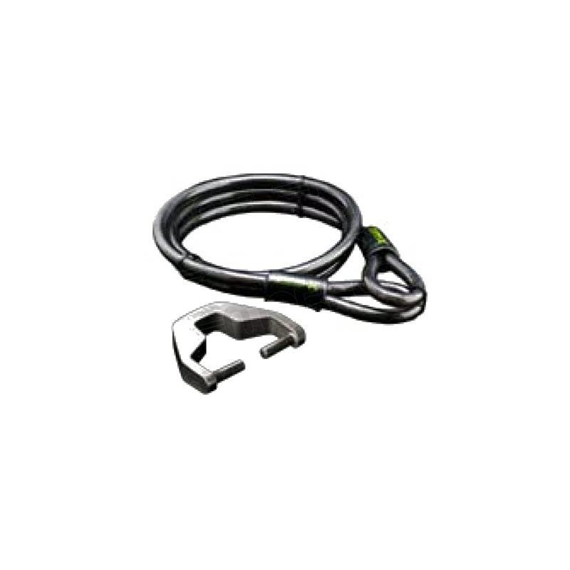 Câble antivol acier Xena 1,5m avec adaptateur bloque disque XX6