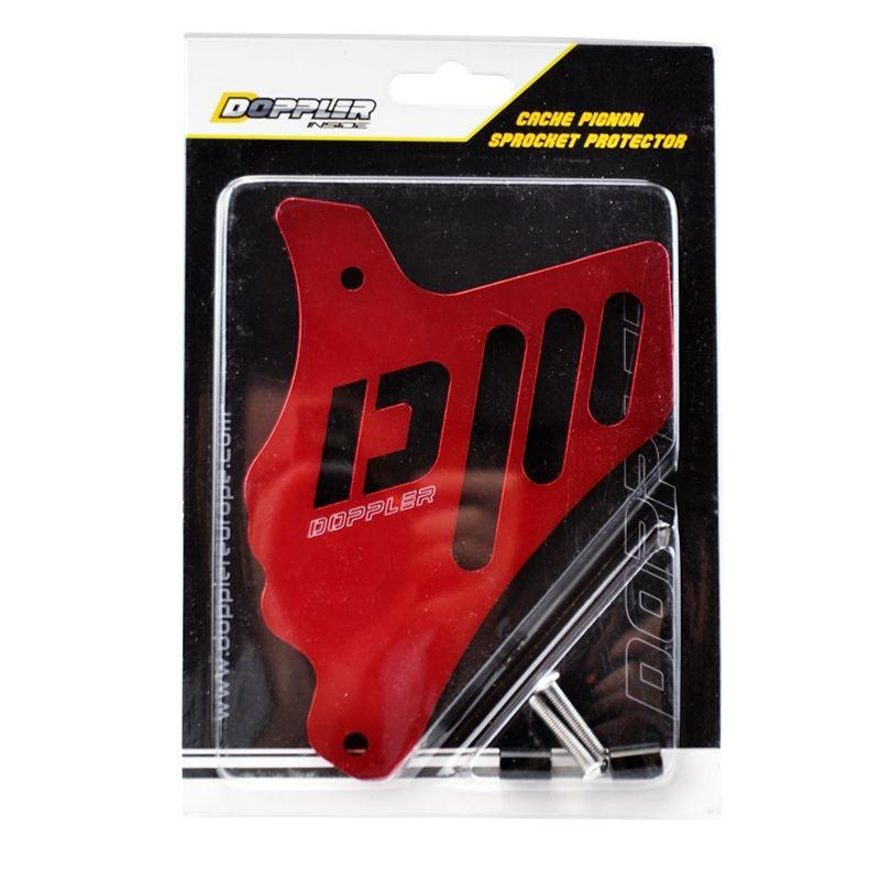 Cache pignon alu Doppler Minarelli AM6 rouge