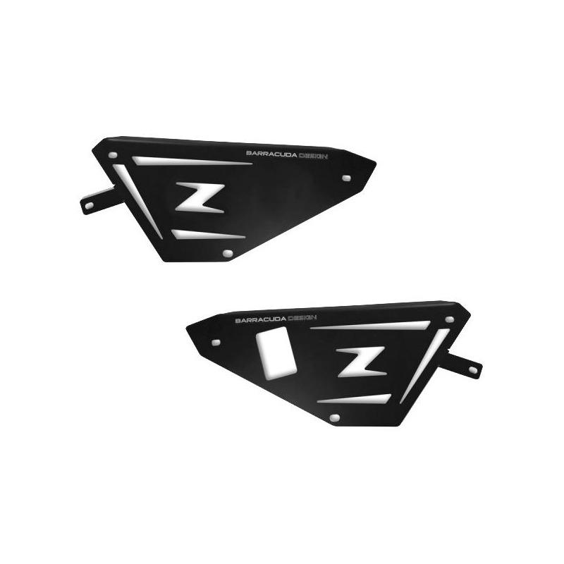 Caches latéraux Barracuda aluminium noir Kawasaki Z 650 17-20