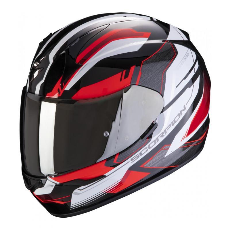Casque intégral Scorpion Exo-390 Boost noir/blanc/rouge
