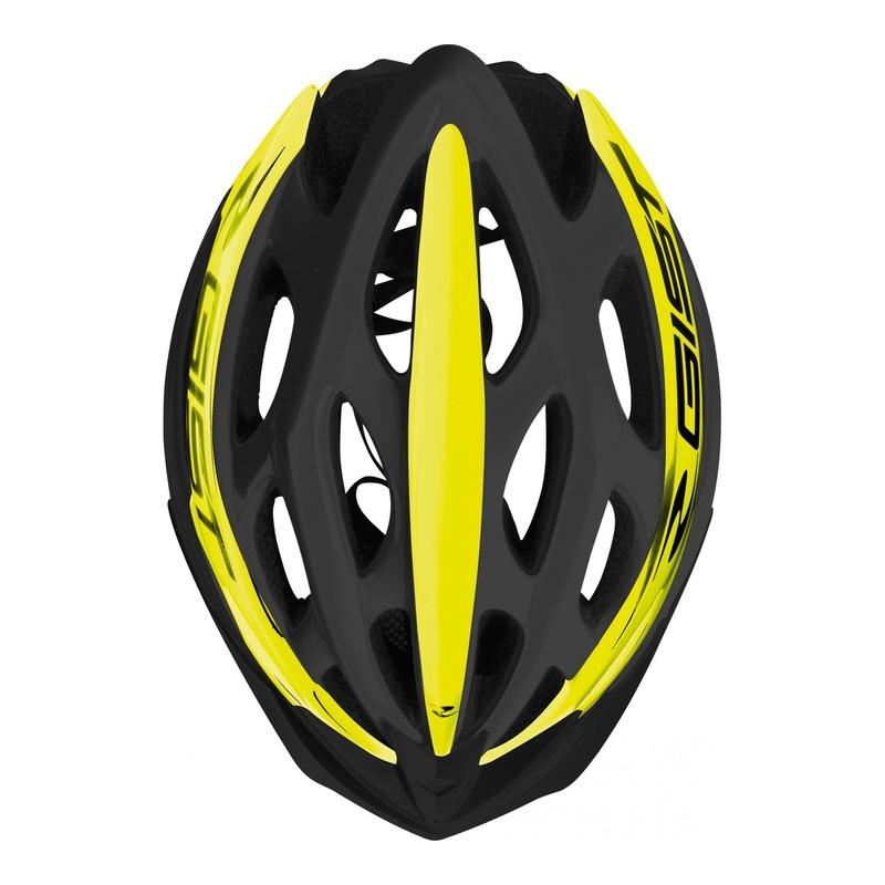 Caque vélo VTT/route/E-bike Gist Faster noir/jaune fluo