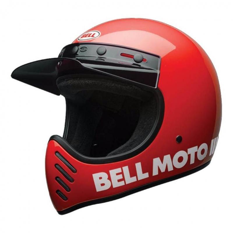 Casque Bell Moto 3 Classic rouge