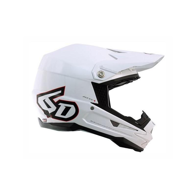 Casque cross 6D ATR-1 blanc brillant
