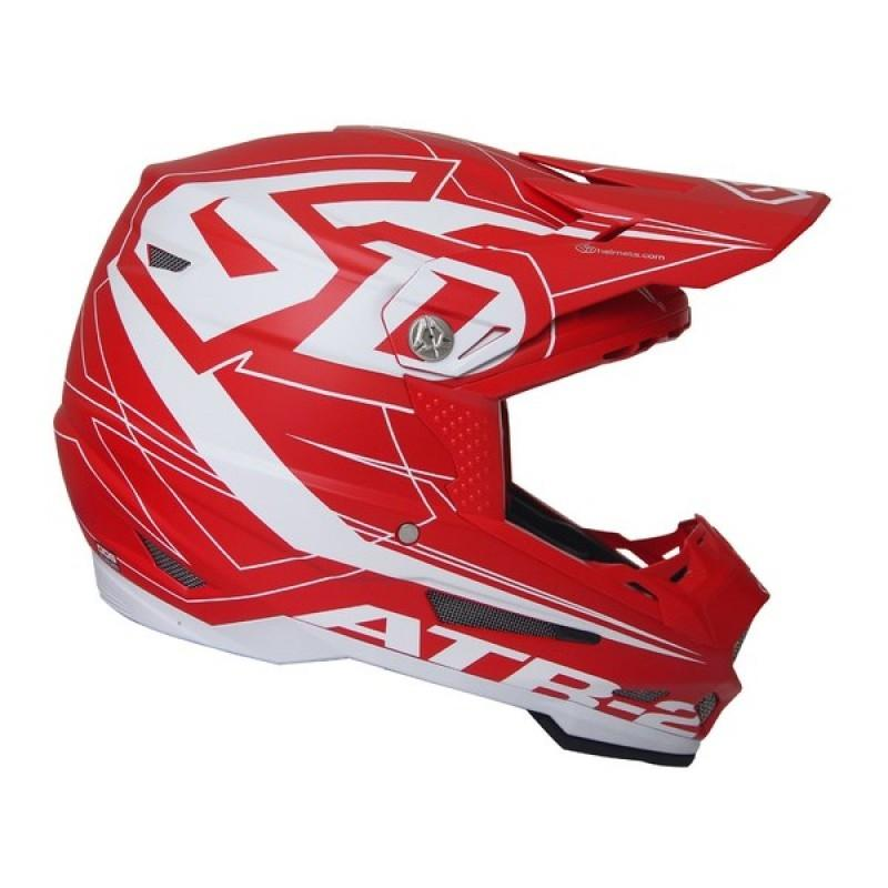Casque cross 6D ATR-2 Aero rouge