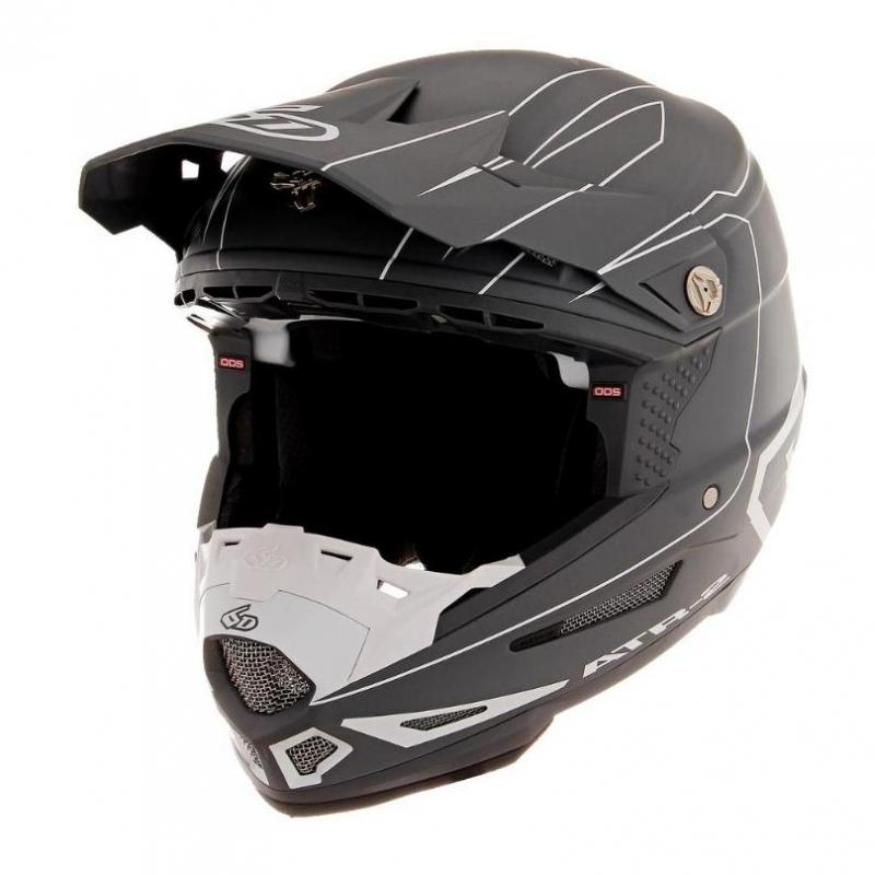 Casque cross 6D ATR-2 Recon gris/blanc mat