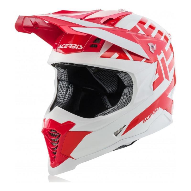 Casque cross Acerbis Impact X-Racer VTR rouge/blanc