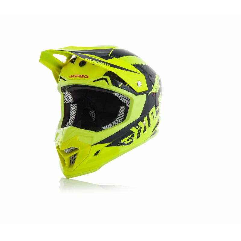 Casque cross Acerbis Profile 4 jaune/noir