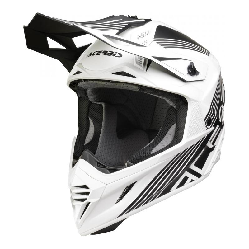 Casque cross Acerbis X-Racer VTR noir/blanc mat