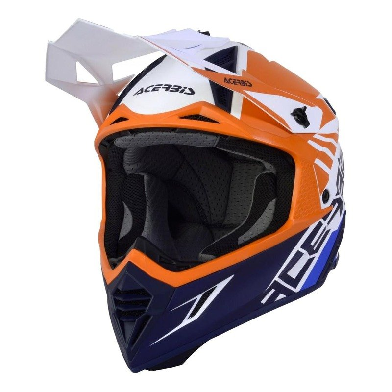Casque cross Acerbis X-Track VTR orange/bleu/blanc