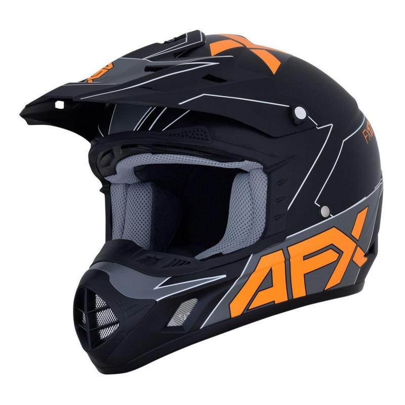 Casque cross AFX FX-17 noir/orange/gris mat
