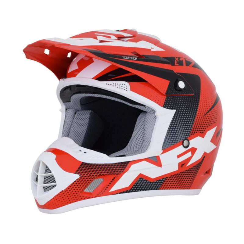 Casque cross AFX FX17 HOLESHOT rouge/noir/blanc
