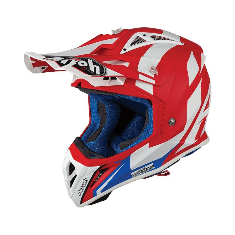 Casque cross Airoh Aviator 2.3 AMS² Bigger rouge mat