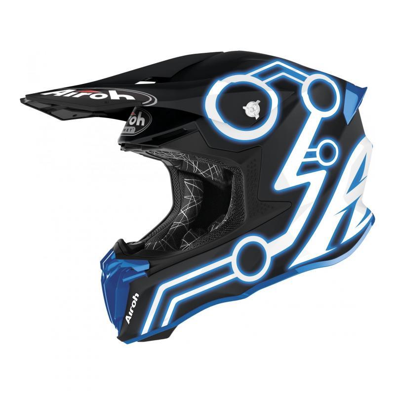 Casque cross Airoh Twist 2.0 Neon bleu mat