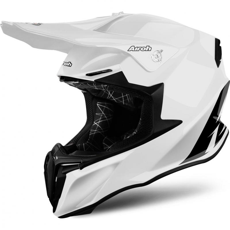 Casque cross Airoh Twist color blanc
