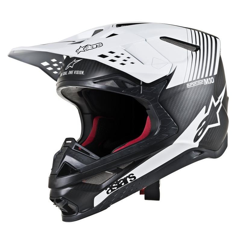 Casque cross Alpinestars Supertech S-M10 Dyno noir/mat/carbone/blanc