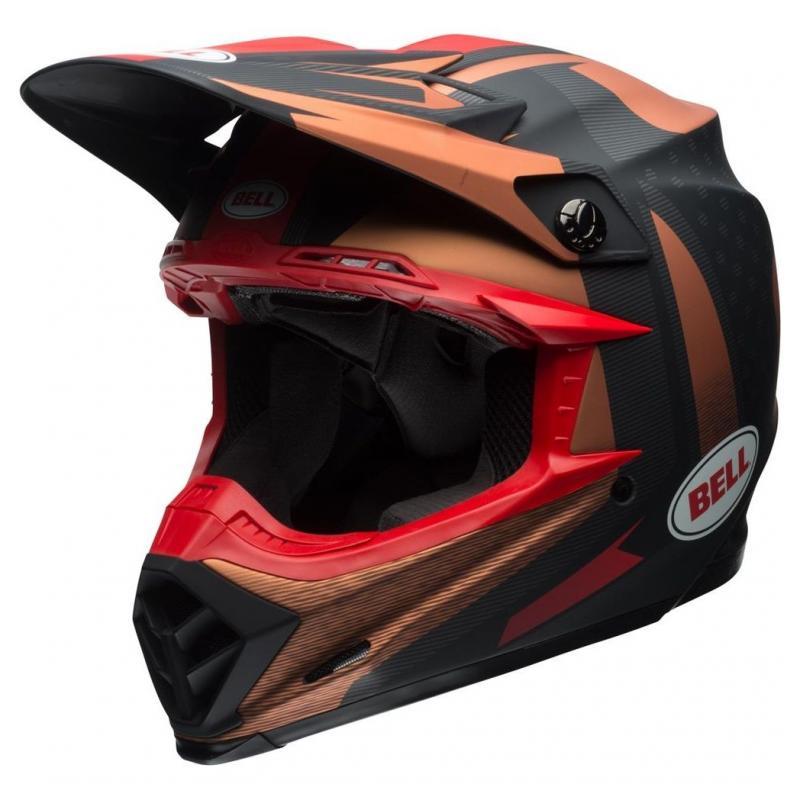 Casque cross Bell Moto 9 Flex Matte copper/black vice