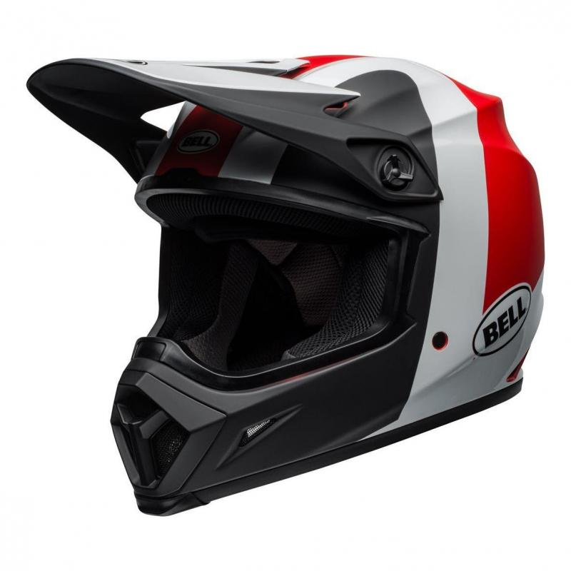 Casque cross Bell MX 9 Mips Presence noir/blanc/rouge