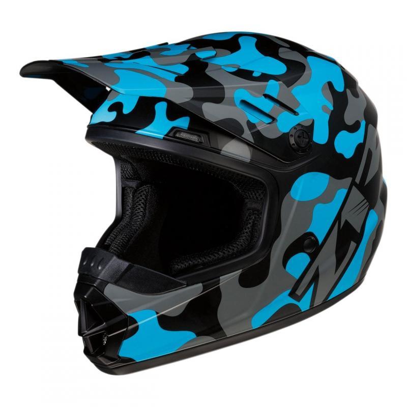 Casque cross enfant Z1R Rise Camo-blue bleu/camouflage