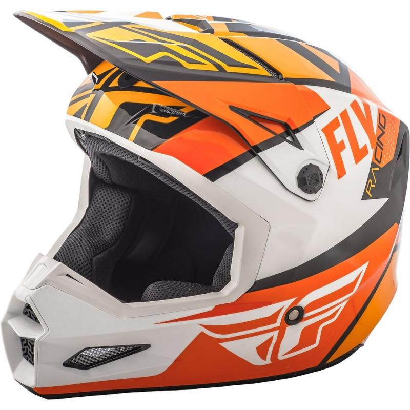 Casque cross Fly Racing Elite Guild noir/orange/blanc