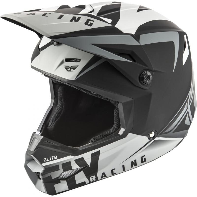 Casque cross Fly Racing Elite Vigilant noir/gris mat