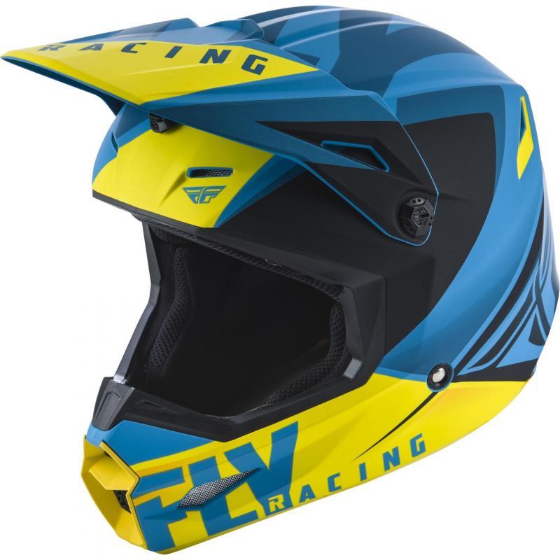 Casque cross Fly Racing Elite Vigilant bleu/jaune/noir