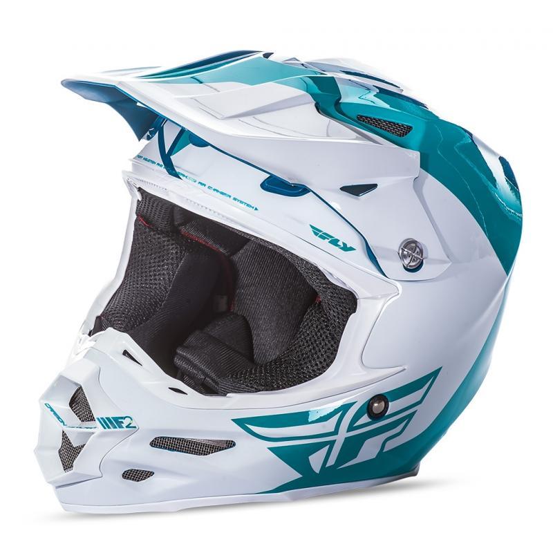 Casque cross Fly Racing F2 Carbon Pure bleu/blanc