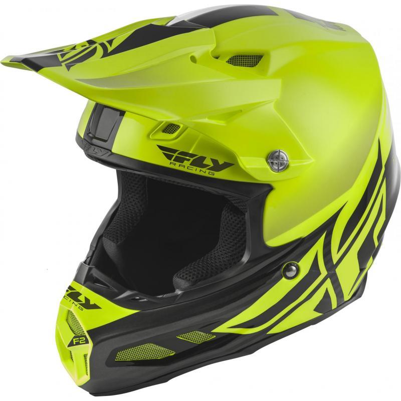 Casque cross Fly Racing F2 MIPS Shield jaune/noir