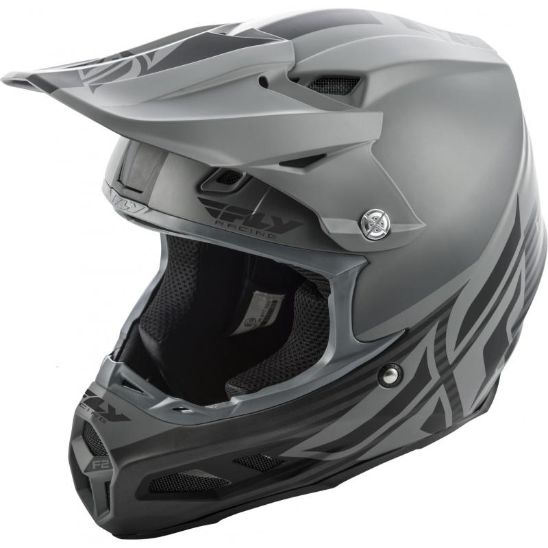 Casque cross Fly Racing F2 MIPS Shield noir/gris mat