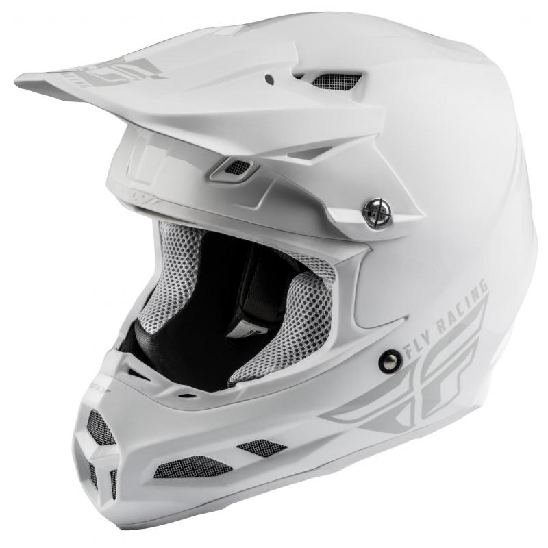 Casque cross Fly Racing F2 MIPS Solid blanc