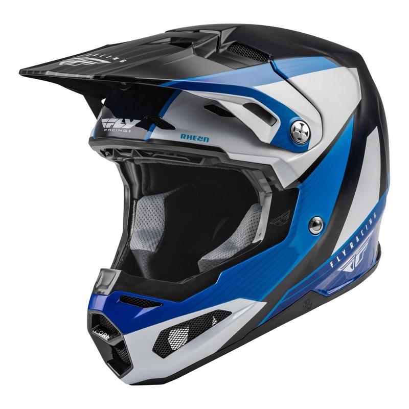 Casque cross Fly Racing Formula Carbon Prime bleu/blanc/bleu brillant