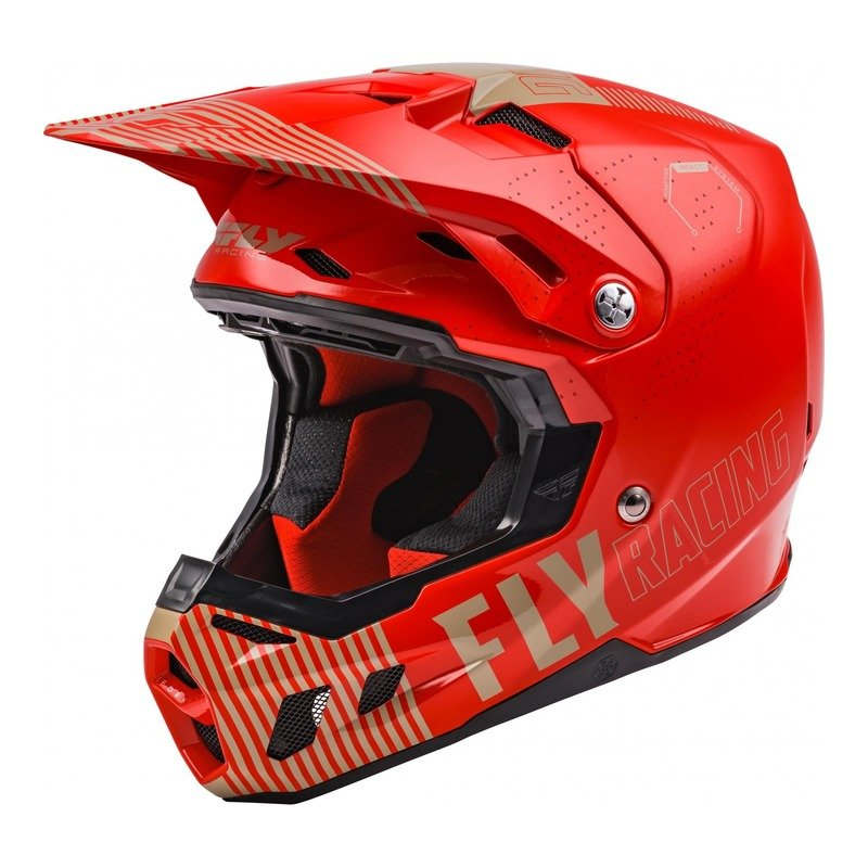 Casque cross Fly Racing Formula CC Primary rouge/kaki